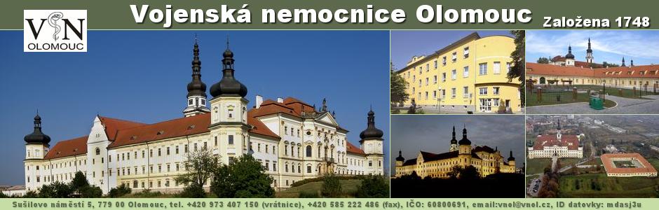 Webové stránky Vojenské nemocnice Olomouc